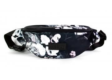 Поясная сумка большая Black Flowers