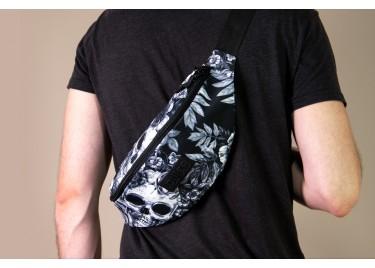 Поясная сумка большая Grey Skull